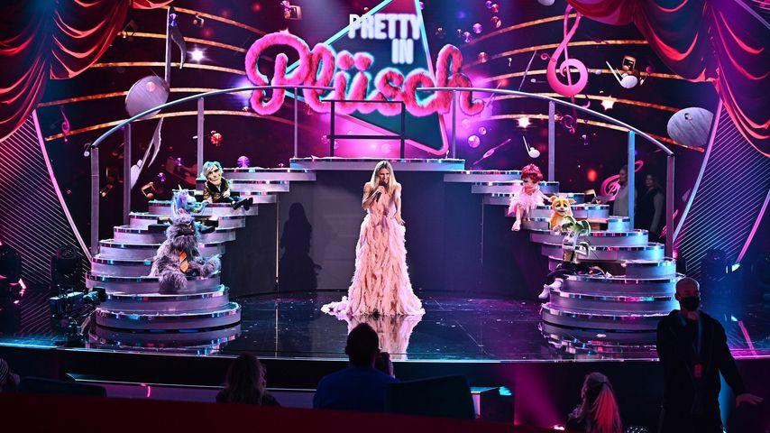 """Michelle Hunziker auf der """"Pretty in Plüsch""""-Bühne"""