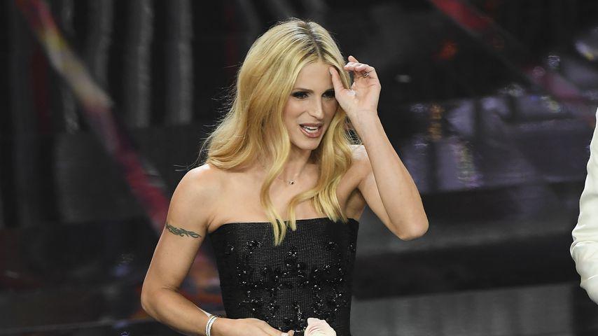 Michelle Hunziker beim 68. Sanremo Music Festival 2018