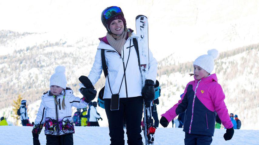 Süß: Hier tollen Michelle Hunziker und Familie im Schnee