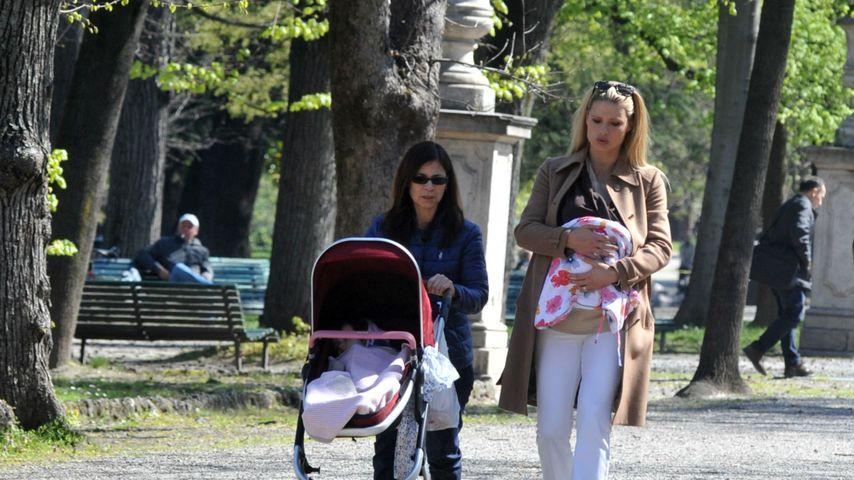 Michelle Hunziker, Sole Trussardi und Celeste Trussardi