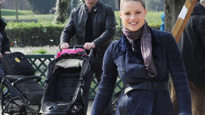 Ohne Celeste: Michelle Hunziker & ihre süße Sole