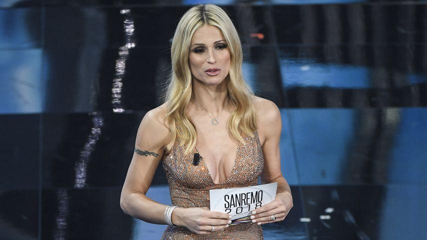 Moderatorin Michelle Hunziker beim 68. Sanremo Music Festival