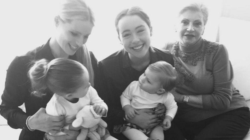 3 Generationen: Michelle Hunziker mit Mama & süßen Töchtern