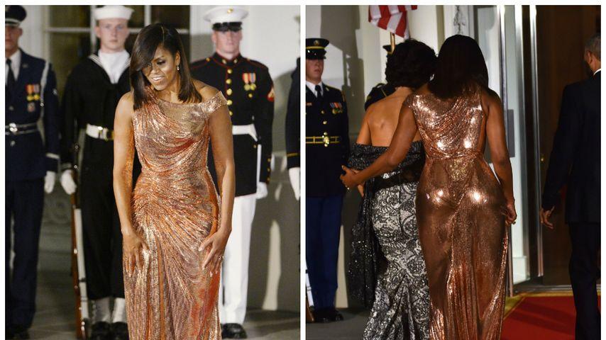 Kurven-Queen! In diesem Kleid haut die First Lady alle um