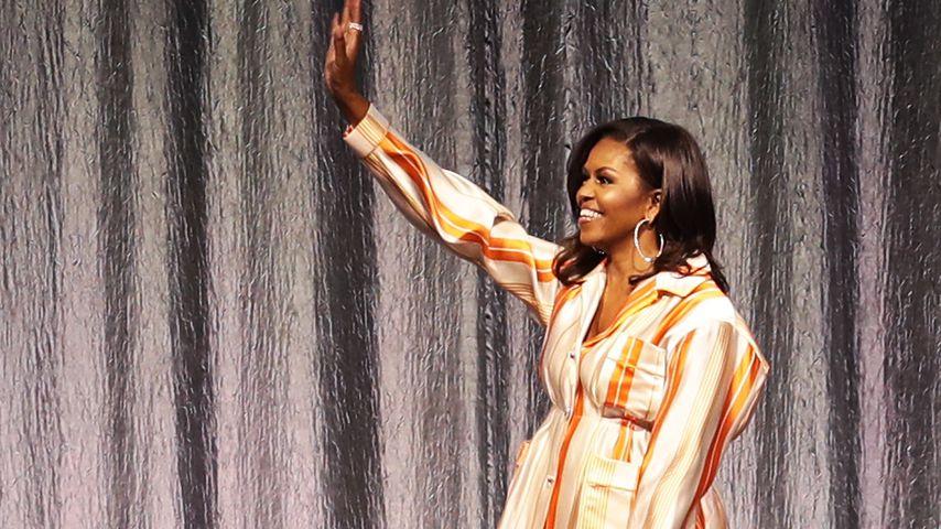 Gemütlicher Look: Trägt Michelle Obama hier einen Pyjama?