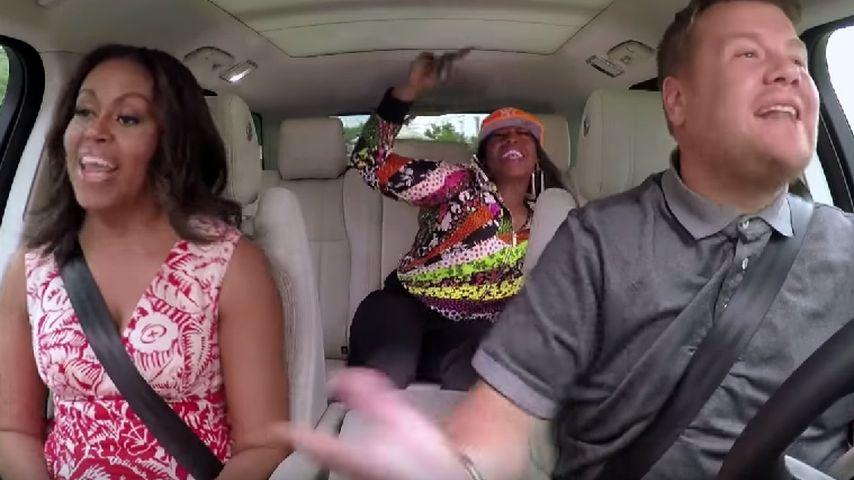 Michelle Obama, Missy Elliott und James Corden