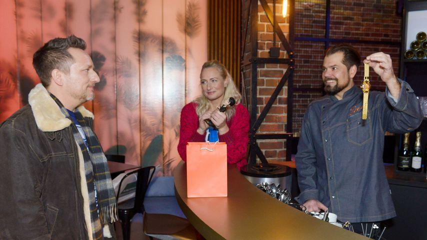 Michi (Lars Pape), Maren (Eva Mona Rodekirchen) und Leon (Daniel Fehlow)