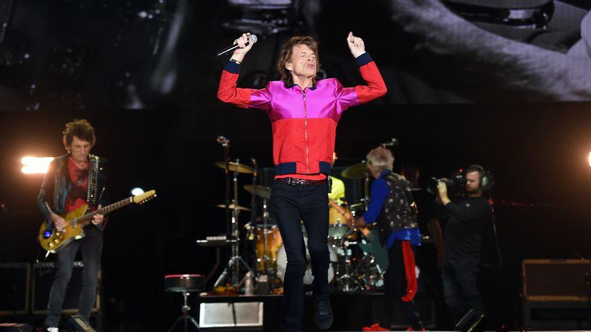 Mick Jagger bei einem Konzert seiner Band The Rolling Stones