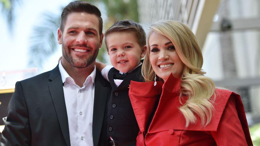 Mike Fisher und Carrie Underwood mit ihrem Sohn Isaiah
