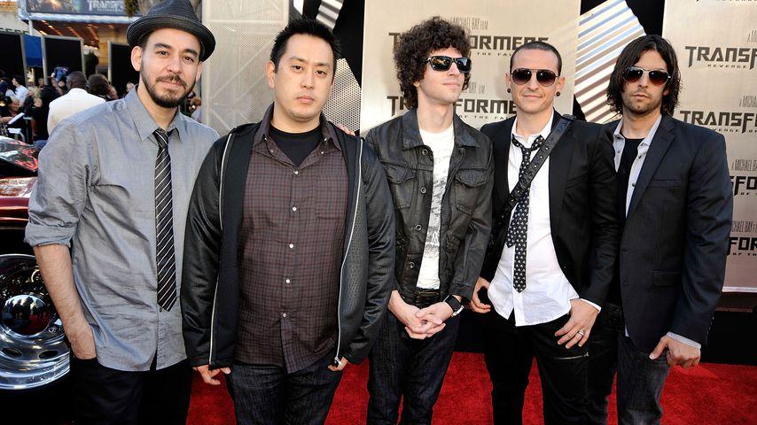 """Linkin Park""-Musiker: Mike Shinoda, Joe Hahn, Brad Delson, Chester Bennington und Rob Bourdon"