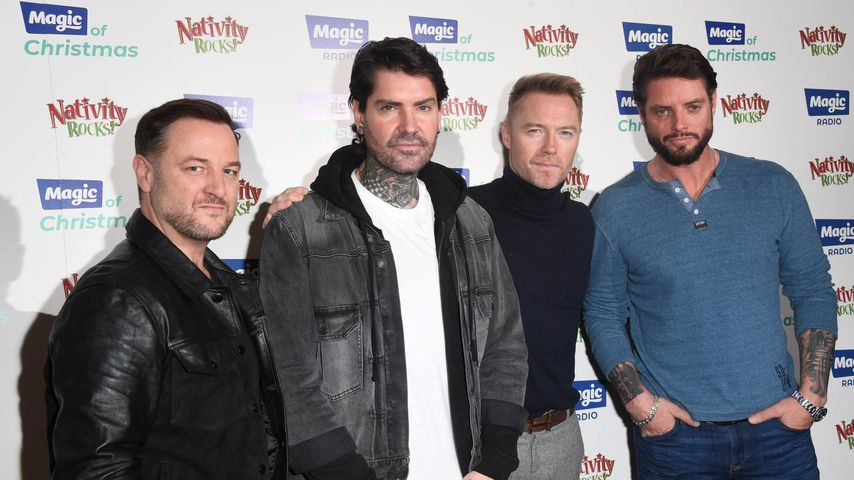 Mikey Graham, Shane Lynch, Ronan Keating und Keith Duffy von Boyzone