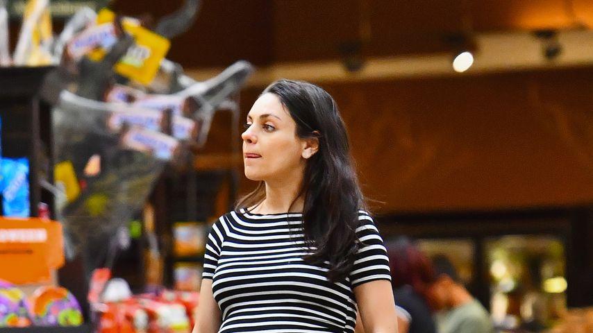 Mila Kunis, schwanger mit ihrem zweiten Kind