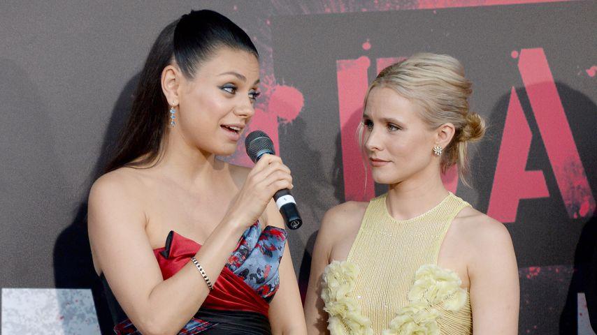 Mila Kunis mit Schauspielkollegin Kirsten Bell (rechts)