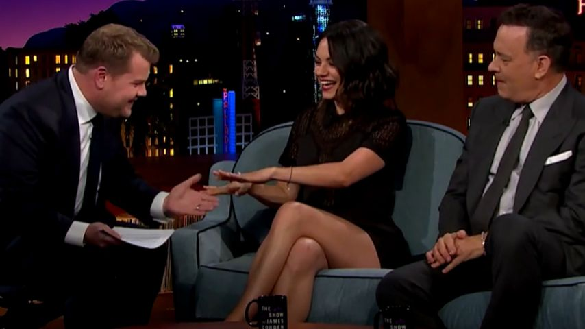 Mila Kunis, Tom Hanks und James Corden
