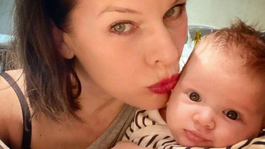 Milla Jovovich und Tochter Osian, 2020