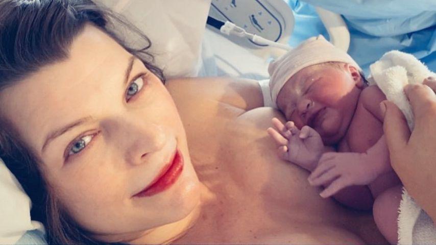 Ständig im Krankenhaus: Milla Jovovichs Baby hat Gelbsucht