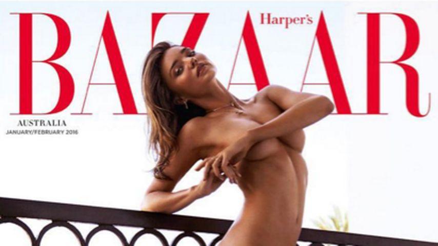Komplett nackt: Miranda Kerr zieht für Cover-Shooting blank