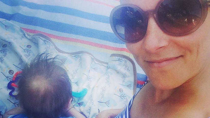 Miriam Lange mit Baby Lenn