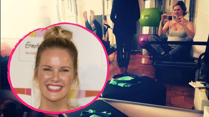 Hochschwanger in Muckibude: Monica Ivancan will fit bleiben!