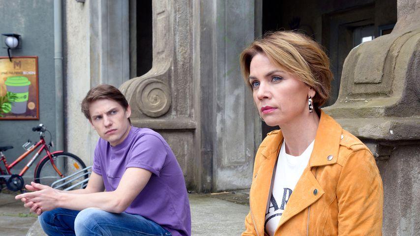 Moritz (Lennart Borchert) und Yvonne (Gisa Zach) bei GZSZ