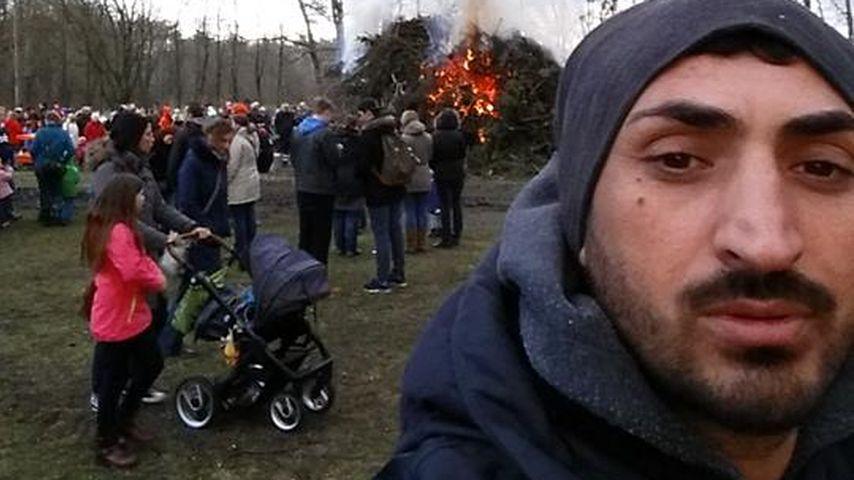 Mustafa Alin beim Osterfeuer