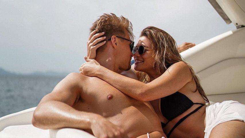 Nadine Klein mit ihrem Freund Tim