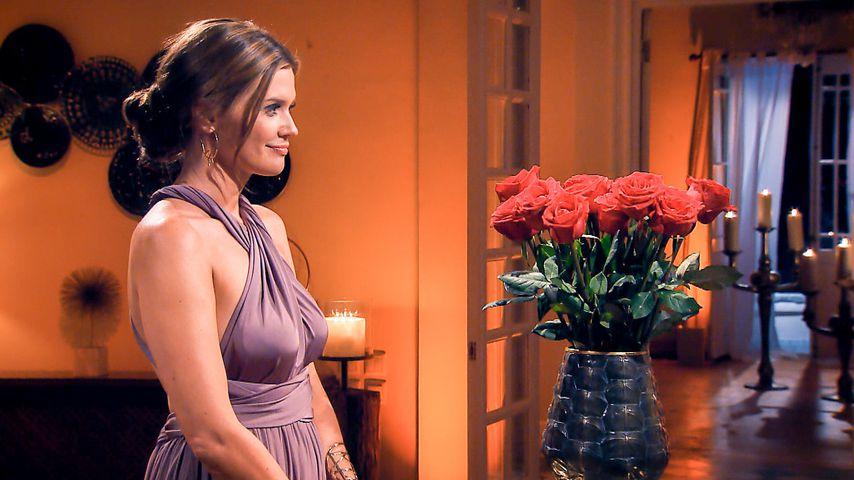 Bachelorette Nadine Klein in ihrer zweiten Nacht der Rosen