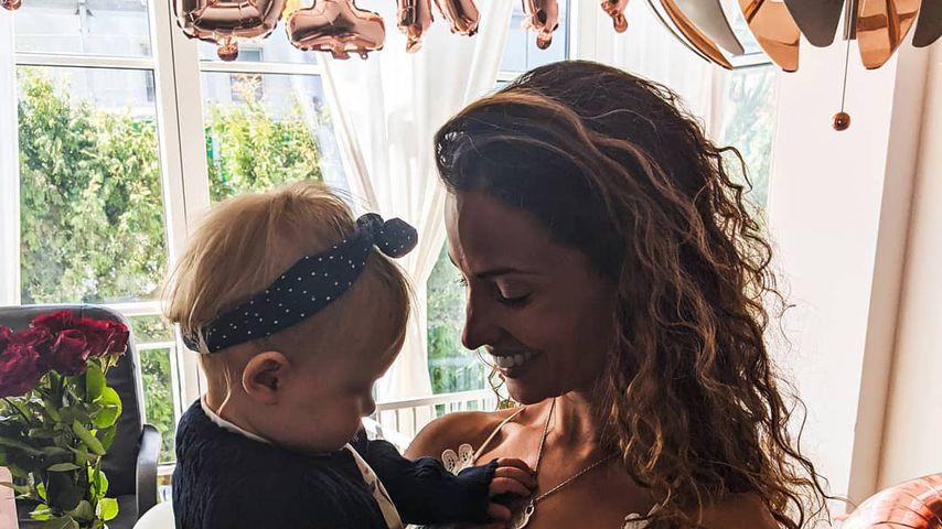 Nadine Menz feiert ihren ersten Geburtstag mit ihrer Tochter