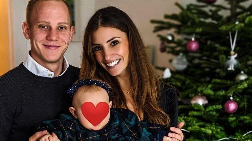 Nadine Menz mit ihrem Freund Sascha und ihrer Tochter