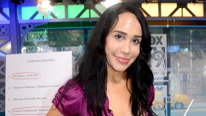 Nadya Suleman 2012 während eines Besuches beim Fernsehsender FOX in Philadelphia