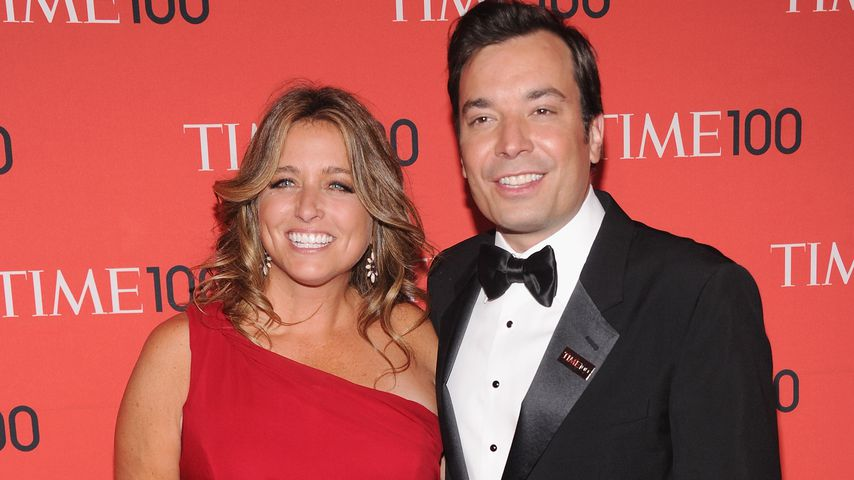 Nancy Juvonen und Jimmy Fallon bei der Time 100 Gala