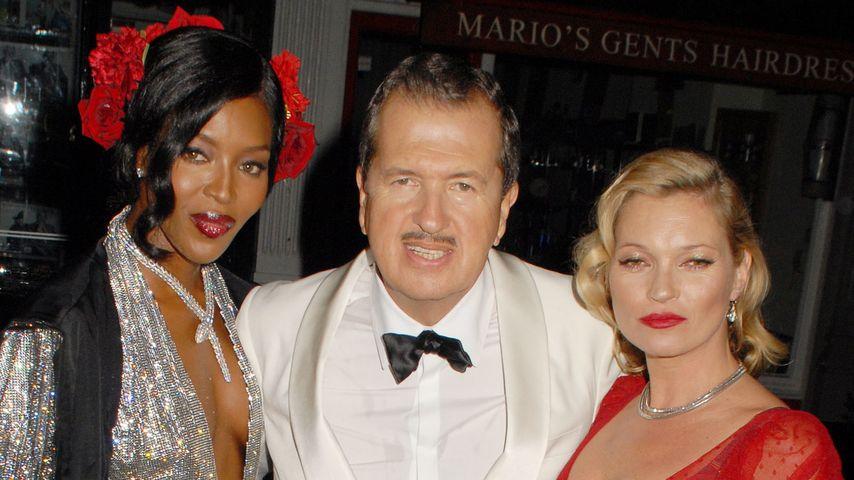 Kate Moss, Naomi Campbell und Mario Testino