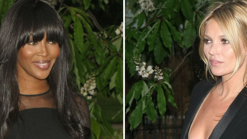 Naomi Campbell & Kate Moss rocken in Schwarz