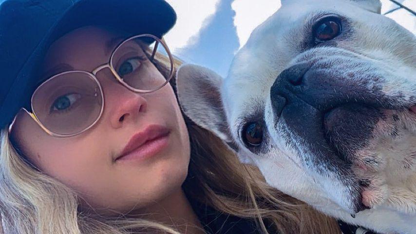Natalie Viscuso und ihr Hund im Januar 2020