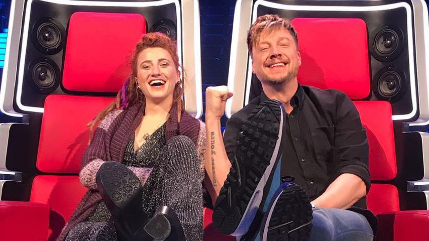 """The Voice""-Kandidatin Natia Todua und Coach Samu Haber"