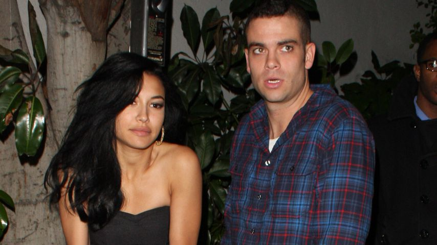 Naya Rivera und Mark Salling nach einer Party im Jahr 2010
