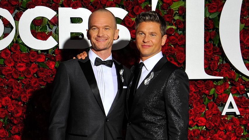 Neil Patrick Harris und David Burtka bei den 70. Tony Awards in New York 2016