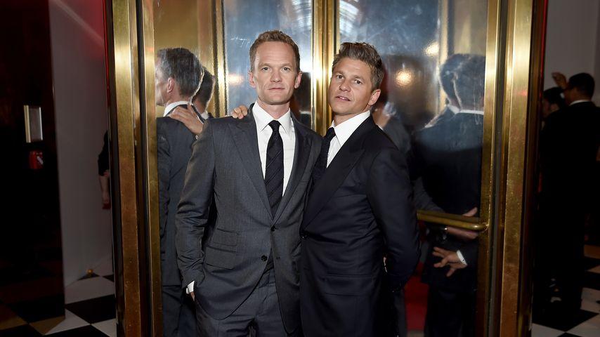 Neil Patrick Harris und sein Ehemann David Burtka auf der NYFW