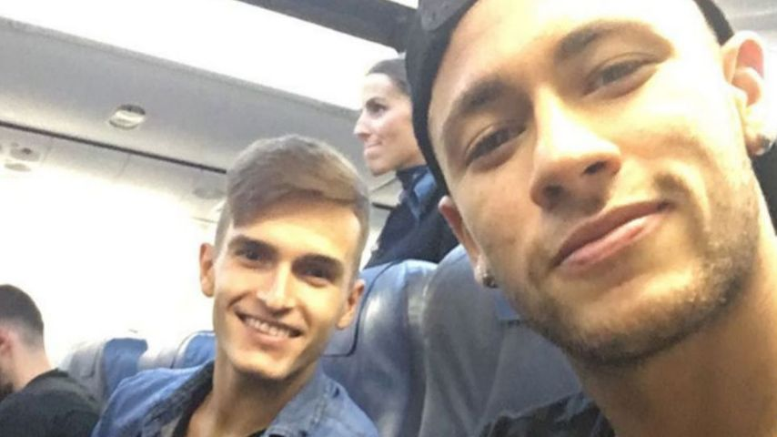 Neymar (r.) und Denis Suarez