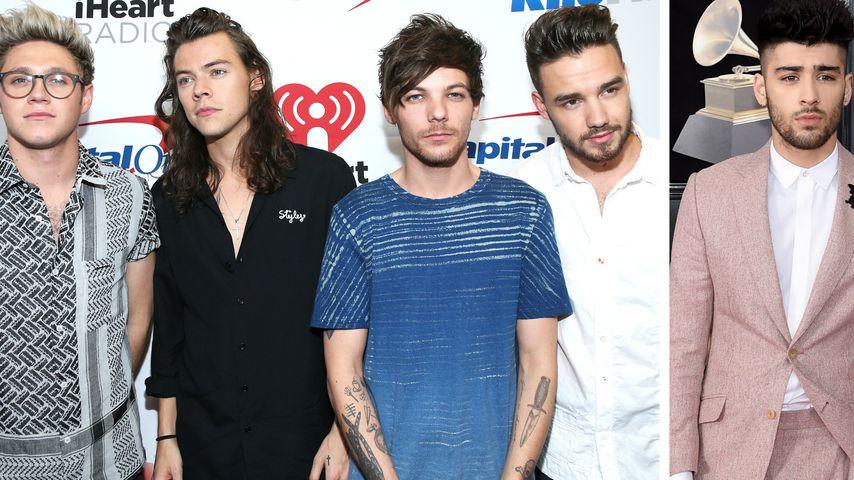 Kaum ein Like: So reagiert One Direction auf Zayns Nachwuchs