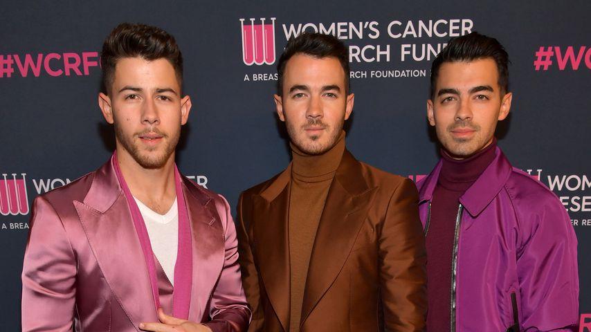 Nick Jonas mit seinen Brüdern Kevin und Joe, Februar 2020