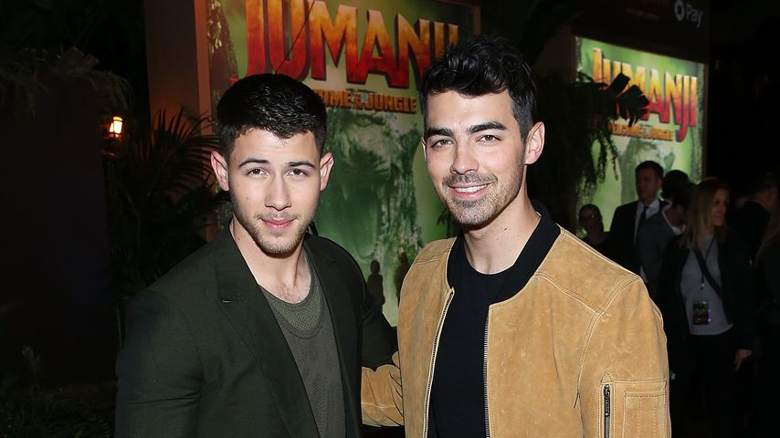 "Nick und Joe Jonas bei der Premiere von ""Jumanji: Welcome To The Jungle"""