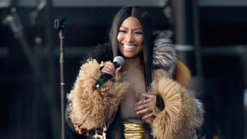 Nicki Minaj bei einem Konzert in New York