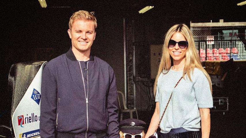 Nico Rosberg mit seiner Frau Vivian und Tochter Alaïa