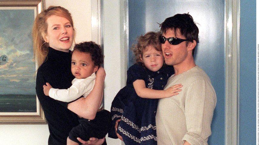 Nicole Kidman und Tom Cruise mit ihren Adoptivkindern Connor und Isabella, 1996