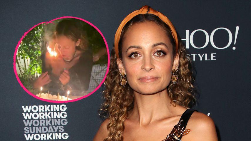 Beim Kerzen-Auspusten: Nicole Richie setzt Haare in Brand