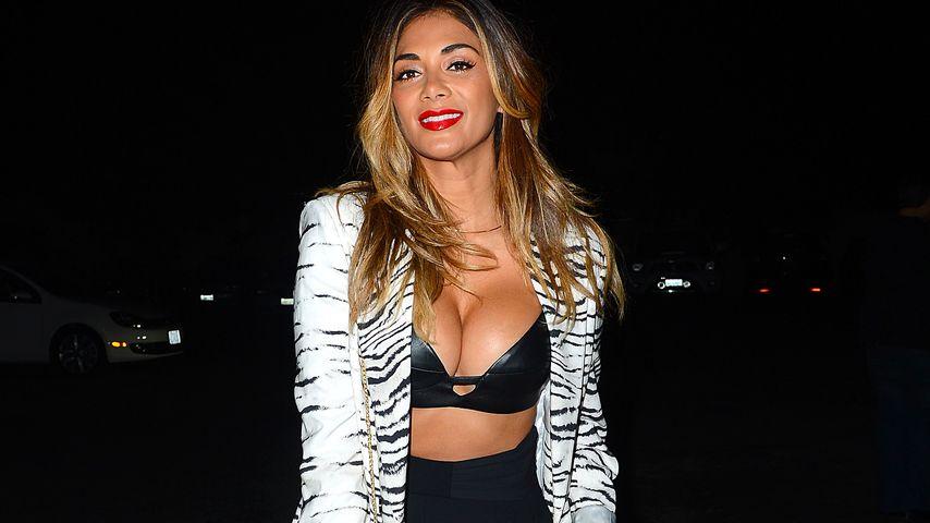 Nicole Scherzinger: Pralle Brüste im sexy Leder-BH