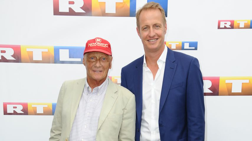 Niki Lauda und Florian König, RTL-Formel-1-Experten