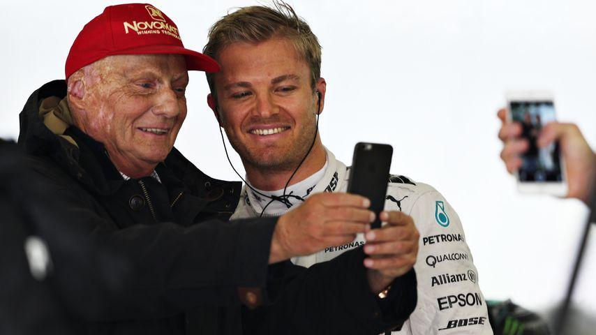 Niki Lauda und Nico Rosberg beim Großen Preis von China 2016