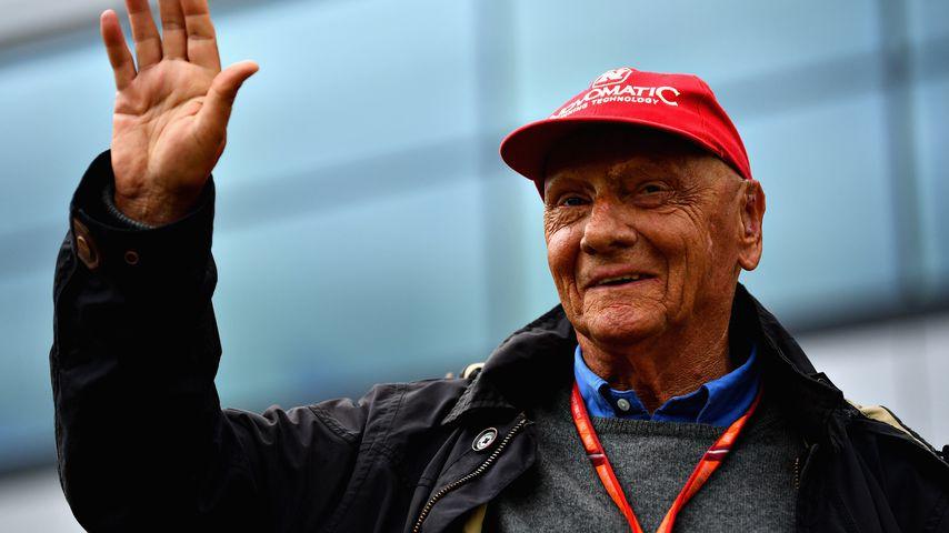 Niki Lauda bei einem Formel-1-Rennen in England 2017